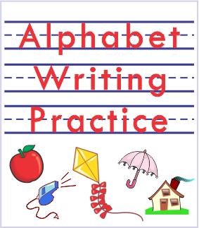 Aphabet writing practice printable