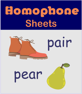 Free printable homophone activity sheets