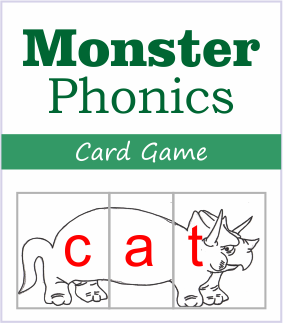 monster phonics card games