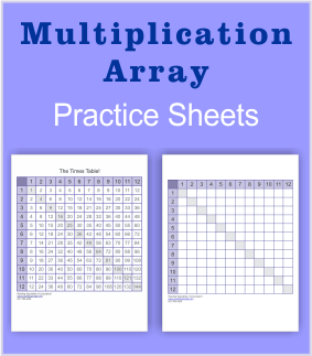 Multiplication printable array.