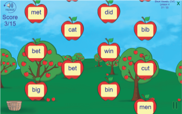 Fun software for teaching reading