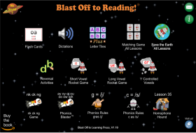 App for Blast Off to Reading Program, BlastOffToLearning.com
