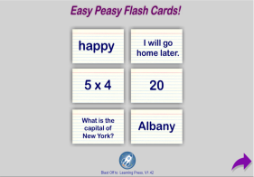 Customizable Flash Card App free online, BlastOffToLearning.com