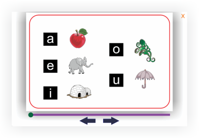 Phonics flash cards for dyslexia reading program, BlastOffToLearning.com