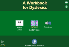 A Workbook for Dyslexics App, BlastOffToLearning.com