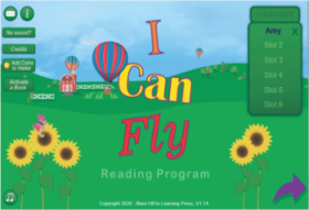 I Can Fly Reading Program for Dyslexia App, BlastOffToLearning.com