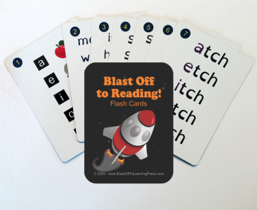 flash cards for Blast Off to Reading phonics reading program for dyslexia