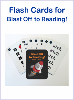 Flash Cards for Blast Off to Reading Program