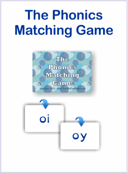 the phonics matching game